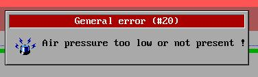 Graphic 6: Error Message The error message window contains all the information, to find the point of trouble.