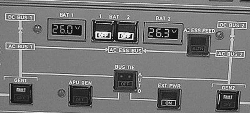 DISPLAYS 143 11.21 Three-digit seven segment displays used for battery bus voltage indication 11.