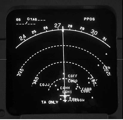 Various other information can be displayed, including mode annunciation, radar altitude, decision height and excessive ILS deviation. EFIS navigation display 1.