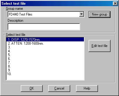 Choosing and Editing Test Files Test
