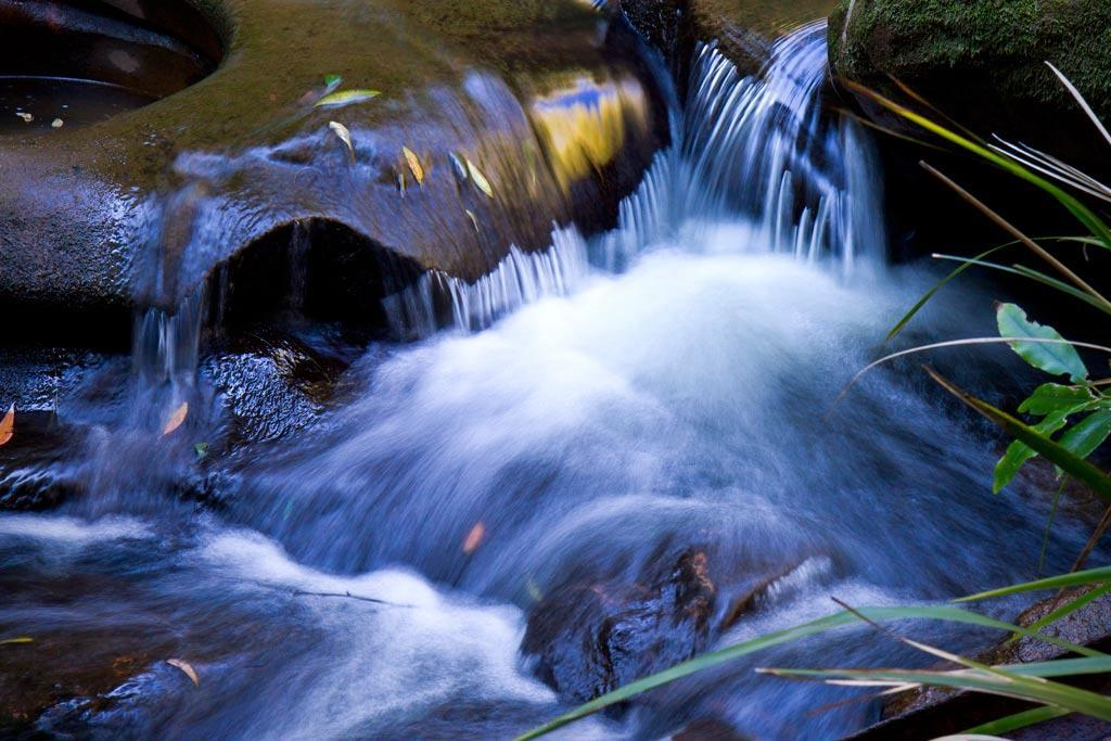 In this image using a tripod & a slow shutter