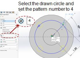 modify the circular pattern, edit the sketch and right click on any of the small