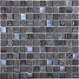 WALL TILES MATT & GLOSS MESHED Imperium 12 x 12 Imperium Silver 12 x 12 Imperium Gold 12 x 12 MOSAIC