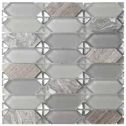 7 INFO MOSAIC glossy glass electroplated on bottom grey glossy glass grey matte