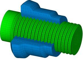 Bolt mesh Nut and bolt threaded zone Fig. 4. Finite element model of bolt and nut 4.2.