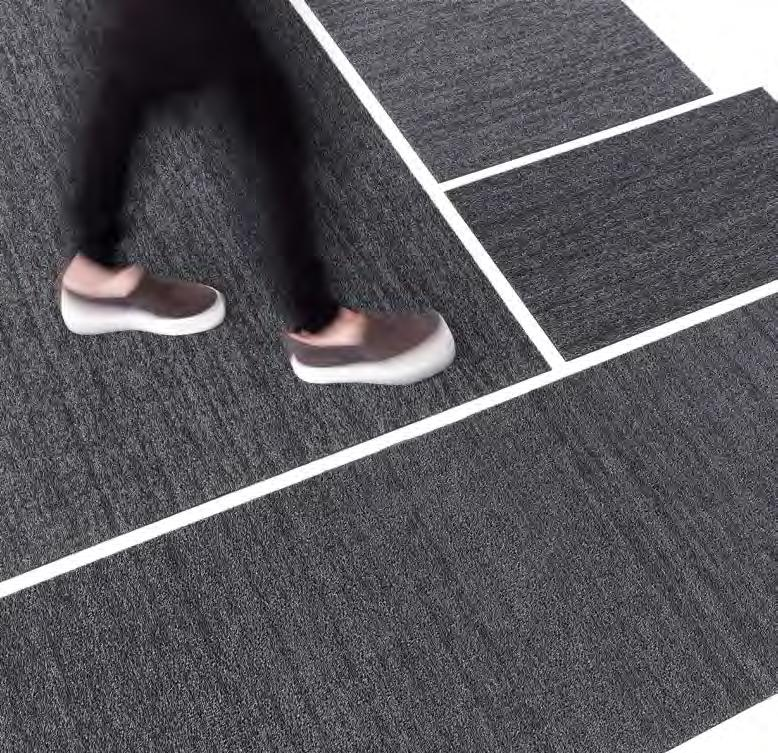 Location: Boffi Soho. Stock sized mats can be cut down to smaller sizes.