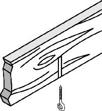 Anchoring Methods Select the appropriate anchoring method for your ceiling: NOTE: Four eye lag screws and four concrete anchors are shipped with the Kit. Wood Joists or Beams. Drill four 5/32-in. dia.