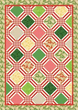 Christmas Platinum Jubilee AMD 075 Ruby Jubilee Dimensions: 56-1/2 x 80-1/2 Retail: $24 UPC: 719318356388 Description: Ruby Jubilee is a 56-1/2 x 80-1/2 ' pieced modern sampler that puts a new spin