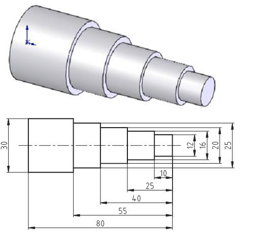 Axis This first exercise provides an introduction to SolidWorks software. First, we will design and draw a simple part: an axis with different diameters.