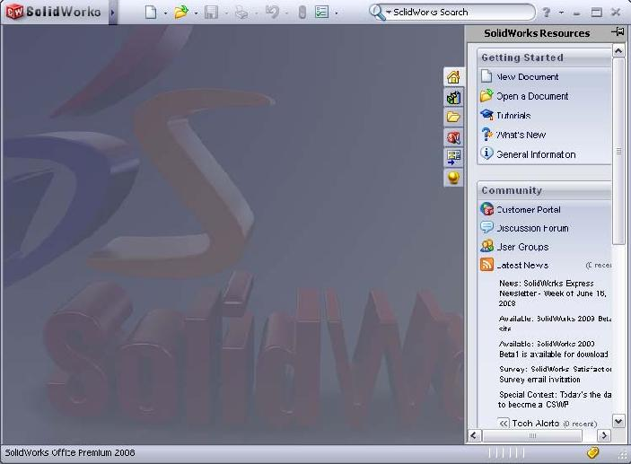 1 Start up SolidWorks. Do this by locating SolidWorks in the Windows Start menu of.
