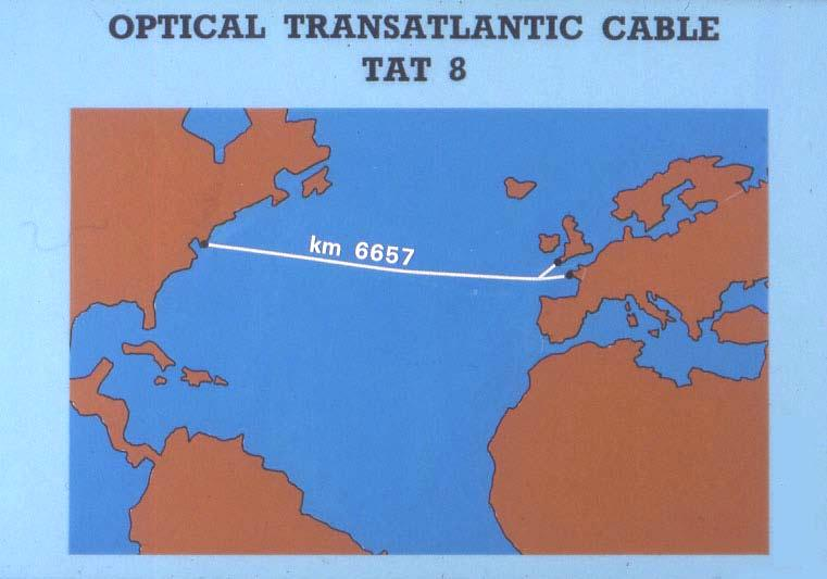Fig. 3. Optical transatlantic cable TAT-8. It is interesting to note (Fig.