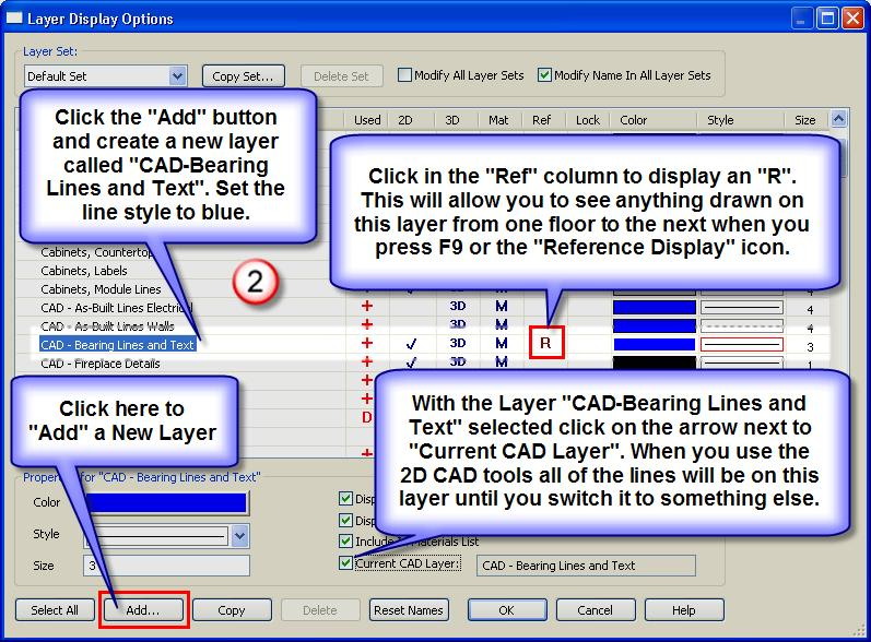 Highlight the CAD circle, press and hold the Shift Key and group select the Bearing Point Text and Arrow. Click the Copy icon.