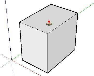The cursor will change to a 3D rectangle with an up arrow ( ). 2.