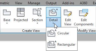 Creating Detail Views You can use any drawing view as the basis for creating a detail view.