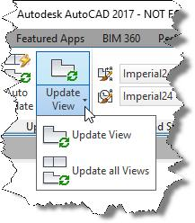 You can update either an individual view or all views. For example, if you choose Update View, the program prompts you to select the view you want to update. Select a view.
