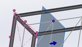 EAA SOLIDWORKS University p 7/11 4. Create a Plane parallel to the Front plane at the closest frame and bracing.