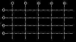 16 Create an array with this gridline. Clear the Group and Associate check box. The distance between two lines should be 4m and the number of copies set to 4.