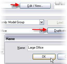 14 Click Edit/New. Click Duplicate. Type Large Office for the name.