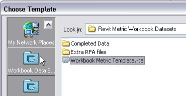 Project. 2 Click the Browse button. Click the Revit Workbook library shortcut icon.