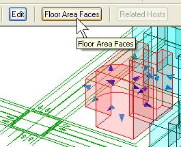 Floor faces help you visualize flooring in the mass element