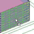 Add Mullions to the Curtain System 49 On the Modeling design bar, click Mullion.