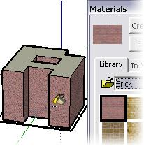For this instance you use Revit Architecture functions to apply walls with materials to the linked SketchUp file.