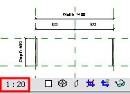 Note that as for all Revit Architecture views, a scale is associated with the view.