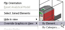 4 Cut the 3D view with the section box: Click the section box that