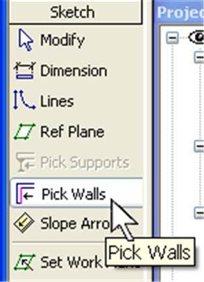 to select all the connected walls or lines. (note the tab key is just pressed and released, not held down like the shift and ctrl keys) 19 On the Basics design bar, click Floor.