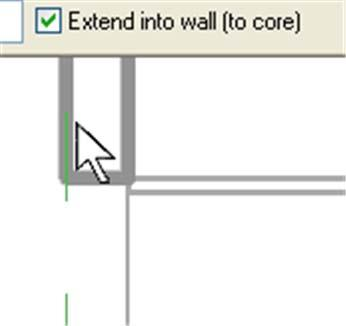 The side of the wall your cursor is on when you select a wall determines which side of the wall the sketch line is