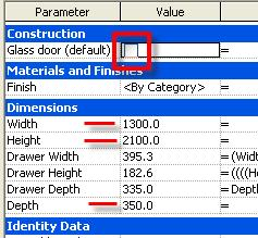 Clear the Glass Door check box. Click OK. On the File menu, click Save.