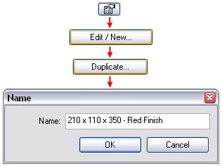 24 Select any instance of the shelf unit: Go to its Properties dialog box. Click Edit/New.