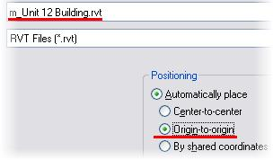 Exercise 12B: Importing Revit Architecture Projects In this exercise you continue from exercise 12A, but import a Revit Architecture project with a building in it.