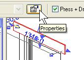 Open its Properties dialog box by rightclicking Properties or by clicking the Properties icon on the options bar.