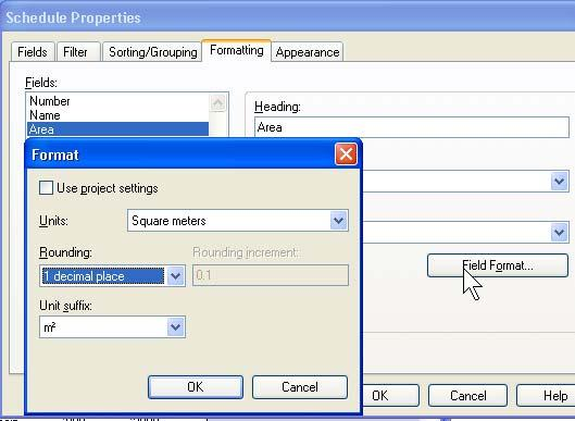 20 Click the Formatting tab. Select Level. Select the Hidden Field check box. 21 Select Area, and click Field Format.