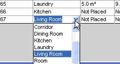 24 Click in the room name cell for the second row you added. If you have entered a value, you can pick it using the list in the schedule cell.