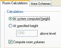 35 Select At System Computed Height. Select the Compute Room Volumes check box.
