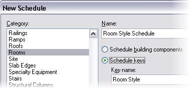 Exercise 18D: Room Schedule Keys In this exercise you add room finish keys to the schedule. To finish your schedule table, you are going to create a schedule key.
