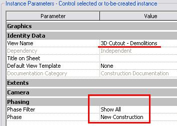 14 In the project browser duplicate the 3D view: 3D Cutout Existing. Rename the new view 3D Cutout Demolitions.