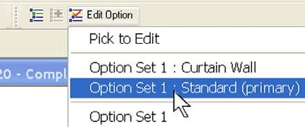 8 Click Edit Option, and on the list, select Options Set 1: Standard (Primary).