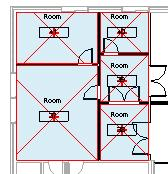 17 On the Basics design bar, click Room. Click in all the empty rooms in the option. After placing the tags, rename the rooms as shown in image.