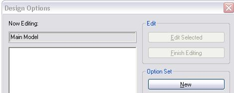 These views are not deleted when you accept the primary option. 34 The Design Options dialog box is now empty.