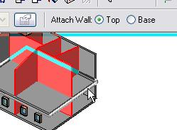 25 Select all the interior walls: Right-click an interior