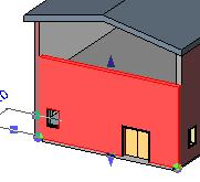 32 On the Basics design bar, click Wall. Change the wall type on the options bar to Curtain Wall: Exterior Glazing.