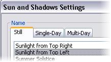 22 In the Advanced Model Graphics dialog box: Select the Cast Shadows check box. Click the Browse (.