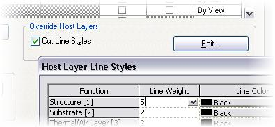 Any layer in the wall type definition assigned to the structure layer now has the wider (pen 5) lineweight assigned to it.
