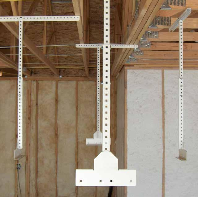 GENERAL INFORMATION Here are a few ceiling joist examples with t-braces installed.