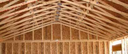 Forward Gable Notice the side to side ceiling joists,