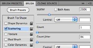 Blending Mode Specifies how the brush tip and the pattern combine.