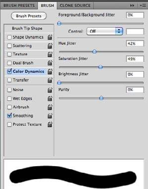Brushes Panel Dual Brush Brushes Panel Color Dynamics Dual Brush Combines two tips to create